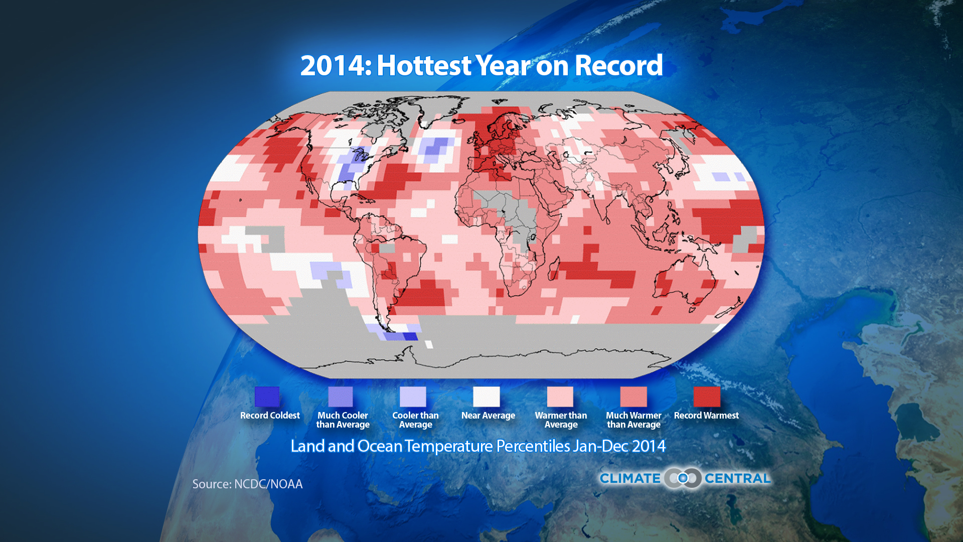 10 warmest years on record globally climate central